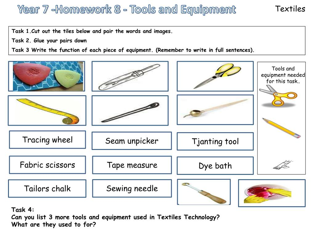Sewing Tools And Equipment Ppt