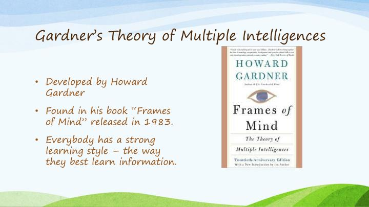 Howard Gardner 1983 Book Frames Of Mind The Theory Multiple ...