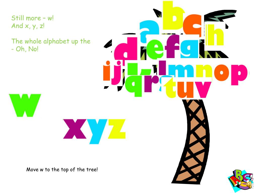 The Whole Alphabet Up Oh No