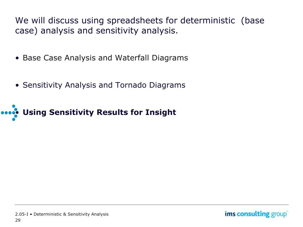 hight resolution of we will discuss using spreadsheets for deterministic base case analysis