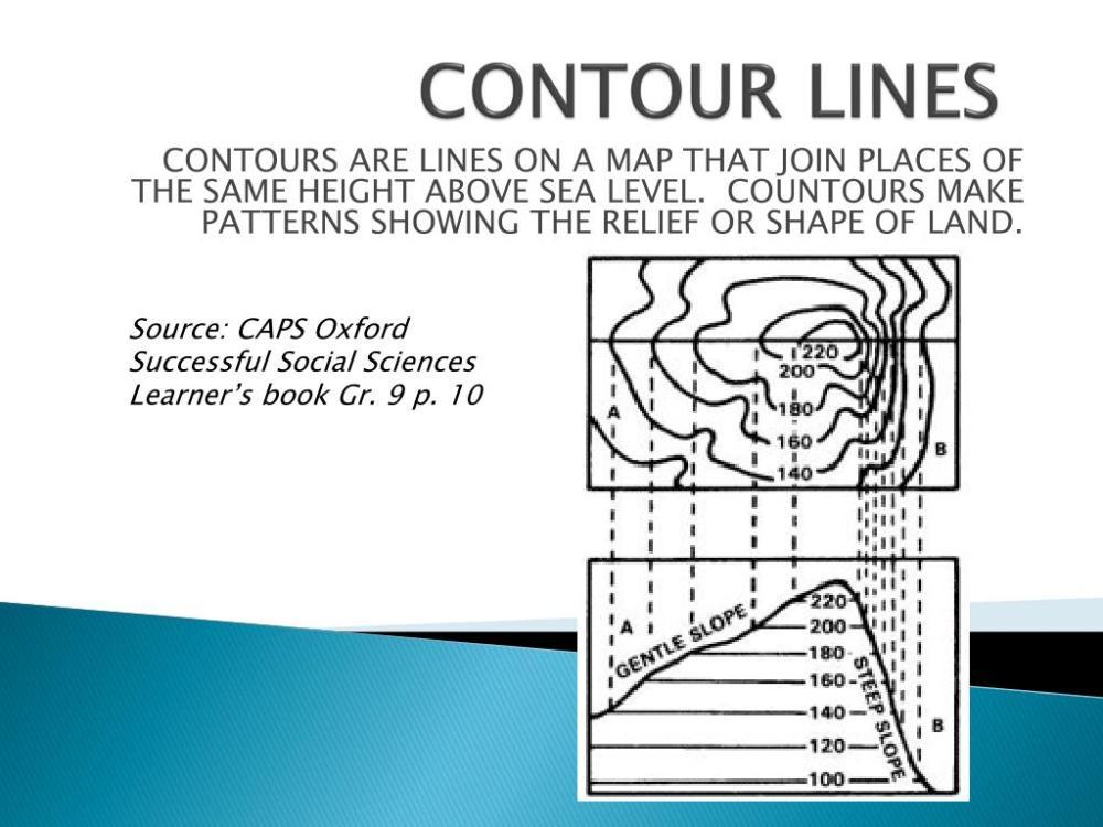medium resolution of PPT - CONTOUR LINES PowerPoint Presentation