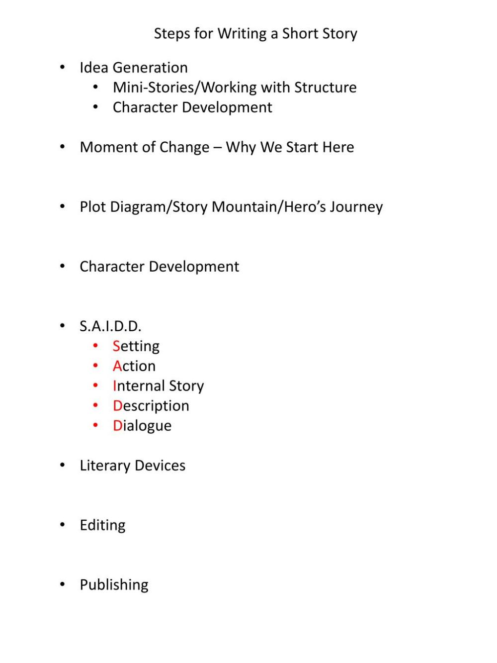 medium resolution of  character development moment of change why we start here plot diagram story mountain hero s journey character development s a i d d setting