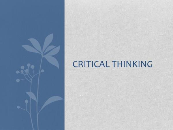 PPT Critical Thinking PowerPoint Presentation ID2493406