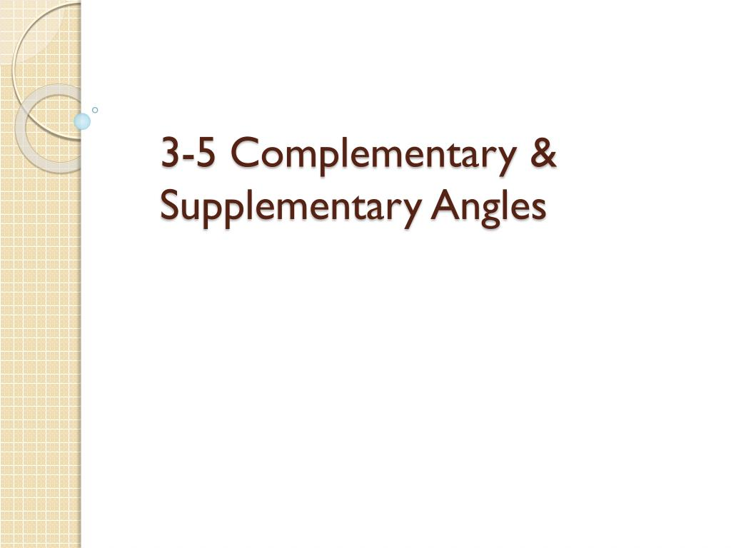 Supplementary Definition Geometry