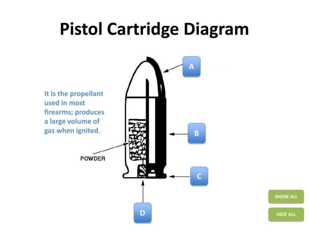 medium resolution of pistol cartridge diagram powerpoint ppt presentation