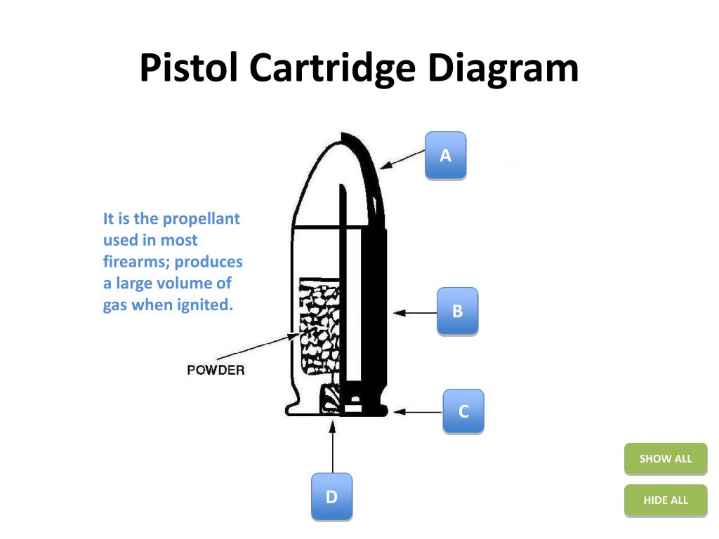 hight resolution of pistol cartridge diagram powerpoint ppt presentation