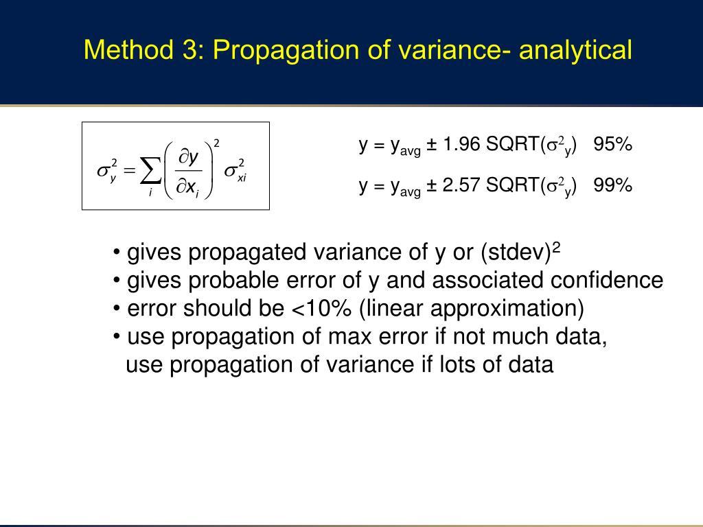 PPT - Propagation of Error Ch En 475 Unit Operations PowerPoint Presentation - ID:2604969