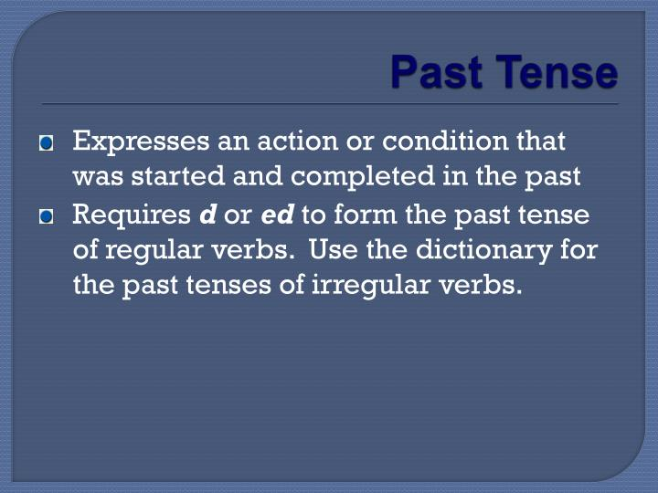 PPT - Using Verbs Correctly PowerPoint Presentation - ID:2616049