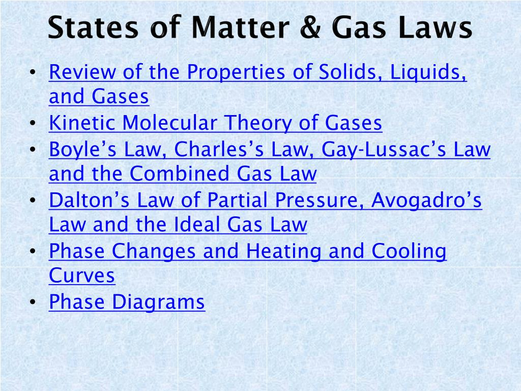 hight resolution of states of matter gas laws n