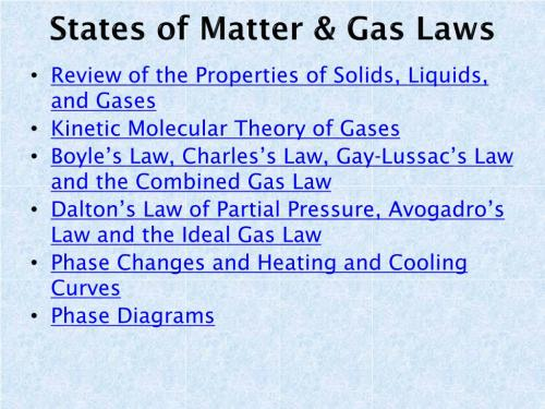 small resolution of states of matter gas laws n