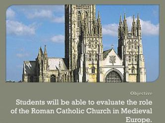 PPT Middle Ages: The Roman Catholic Church PowerPoint Presentation free download ID:2650457