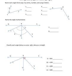 Naming And Measuring Angles Worksheets   Printable Worksheets and  Activities for Teachers [ 1365 x 1024 Pixel ]