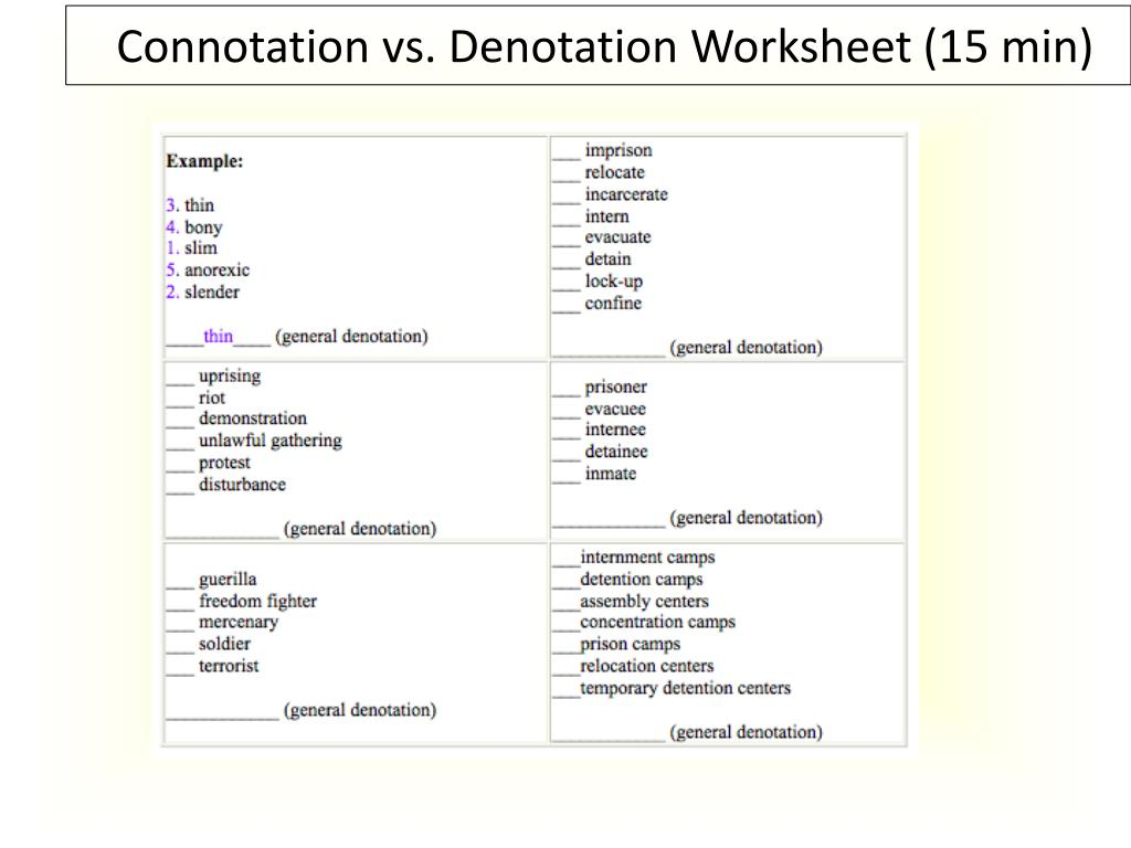 hight resolution of Word Connotations Worksheet   Printable Worksheets and Activities for  Teachers