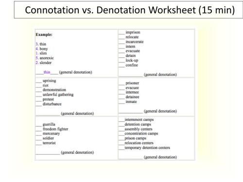 small resolution of Word Connotations Worksheet   Printable Worksheets and Activities for  Teachers