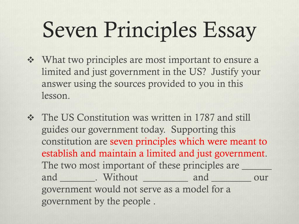 Seven Principles Of Government Worksheet Answers