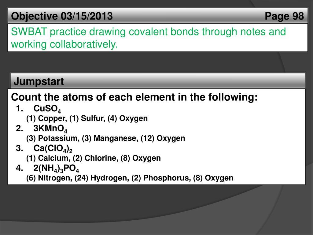 Practice Drawing Covalent Bonds