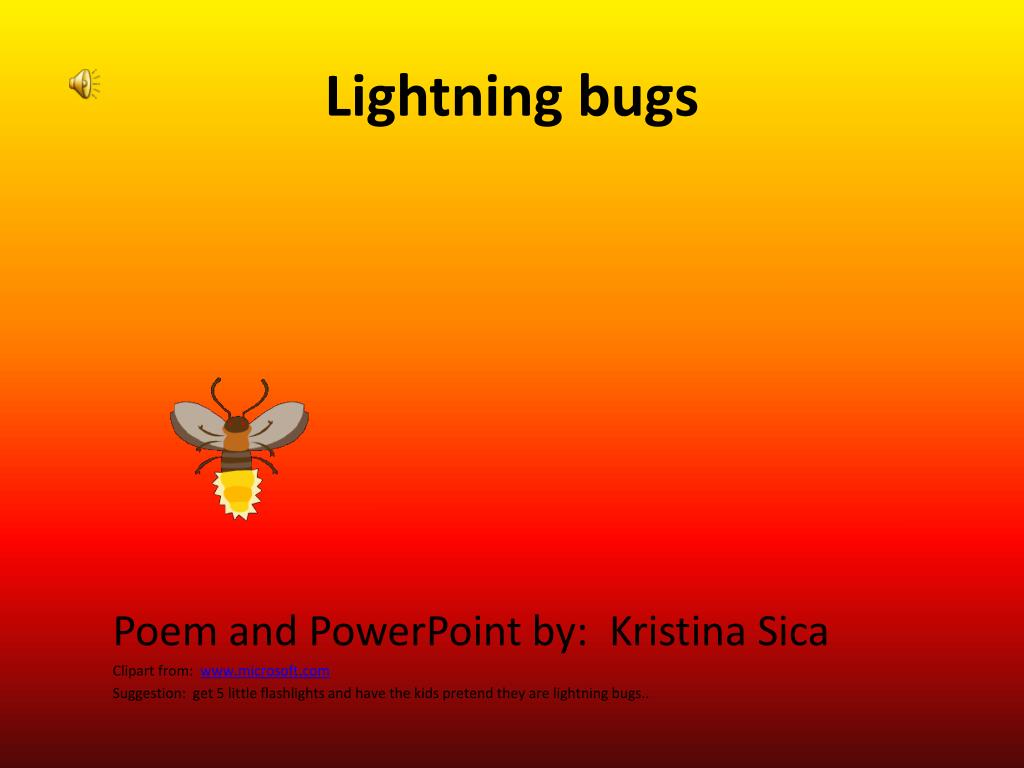 Poem About Lightning Bugs