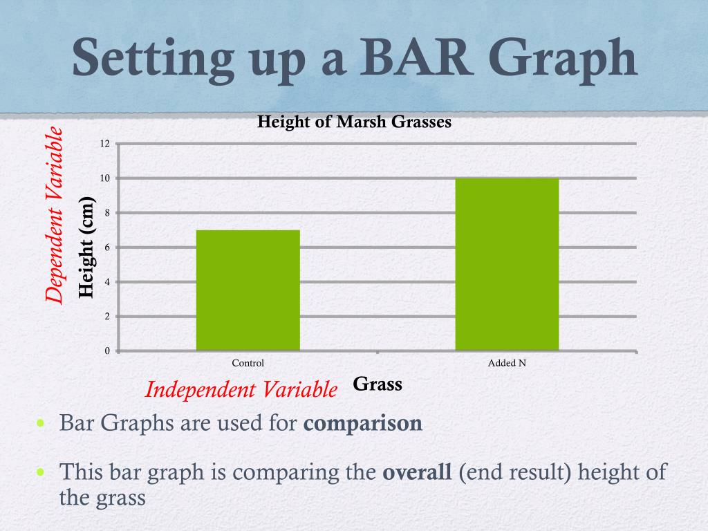 Bar Graph Independent And Dependent Variables