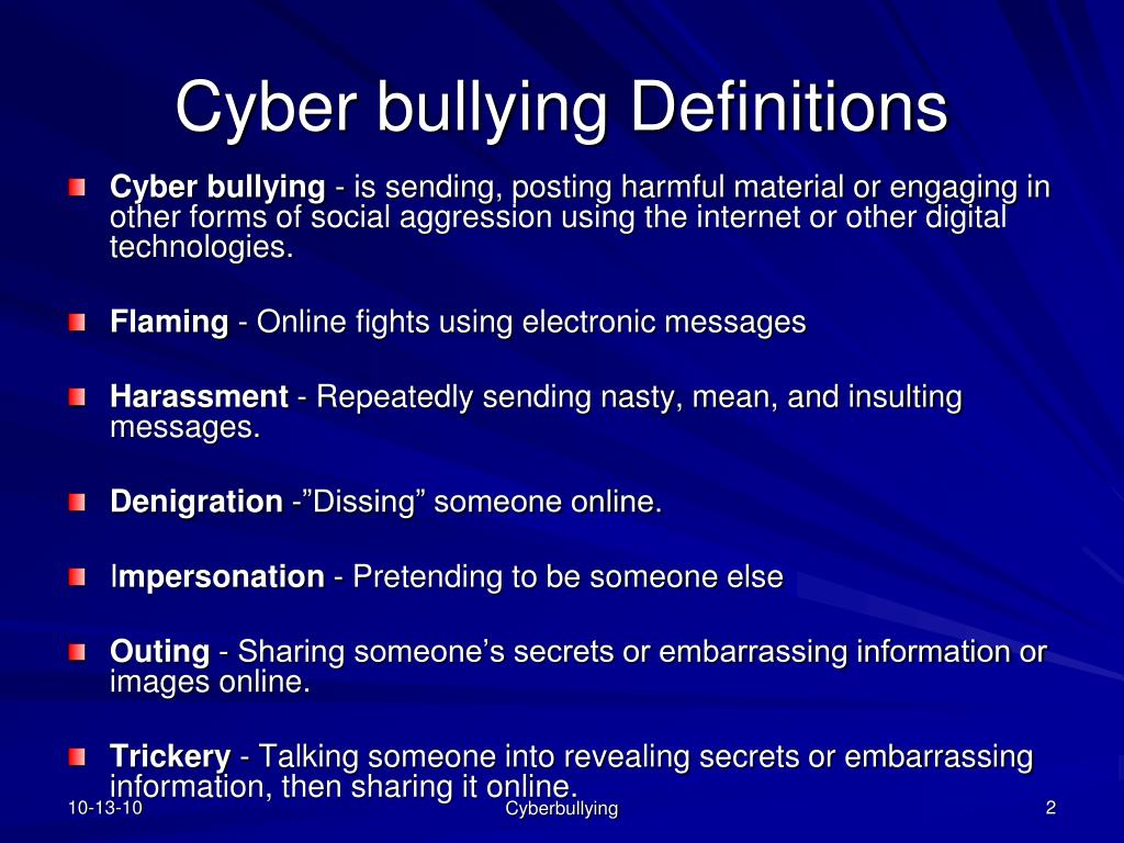 ppt cyber bullying powerpoint