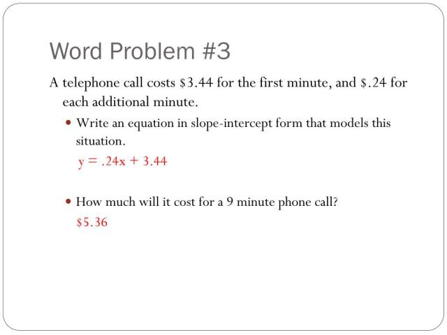 PPT - 26-26 Writing Linear Equations in Slope-Intercept Form