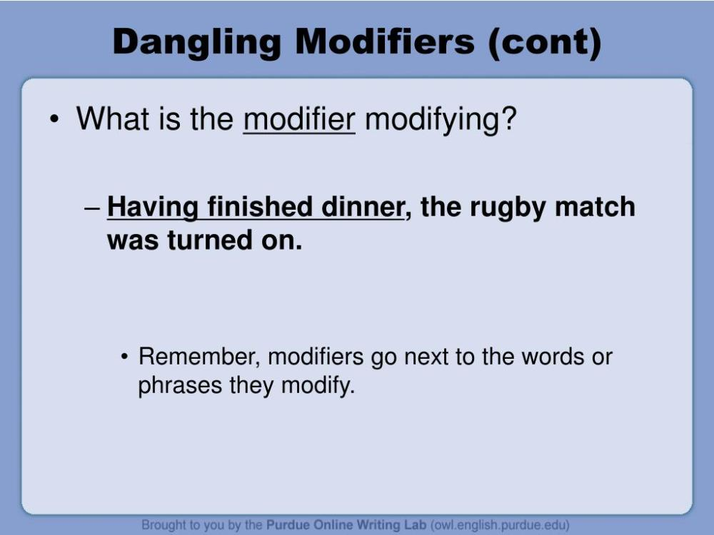 medium resolution of dangling modifiers cont
