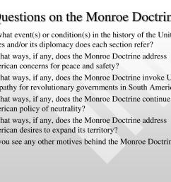 The Monroe Doctrine Worksheet Answer Key   Printable Worksheets and  Activities for Teachers [ 768 x 1024 Pixel ]