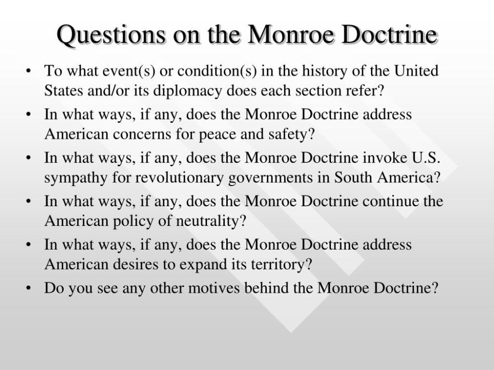 medium resolution of The Monroe Doctrine Worksheet Answer Key   Printable Worksheets and  Activities for Teachers