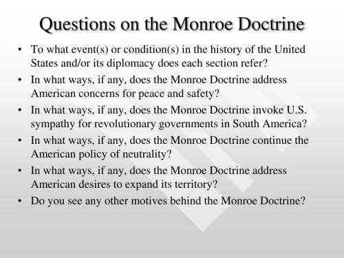 small resolution of The Monroe Doctrine Worksheet Answer Key   Printable Worksheets and  Activities for Teachers
