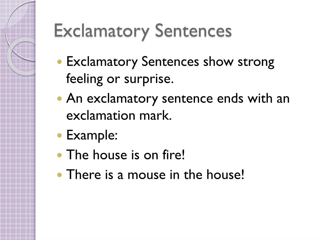hight resolution of PPT - Imperative and Exclamatory Sentences PowerPoint Presentation