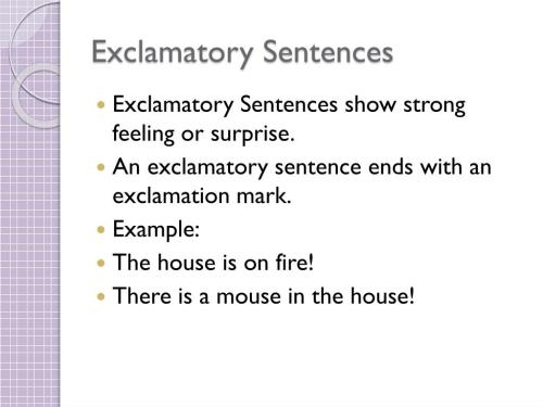small resolution of PPT - Imperative and Exclamatory Sentences PowerPoint Presentation