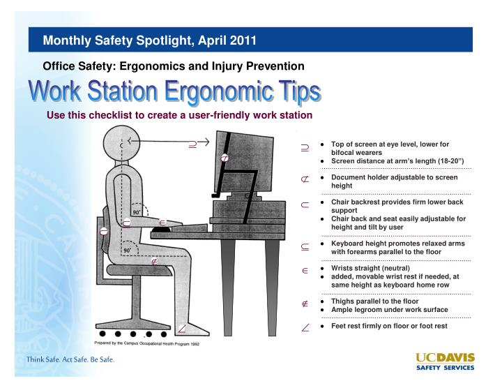 ergonomic chair keyboard position wheelchair emote twitch ppt - safety discussion topics work station ergonomics tips powerpoint presentation id:2769684