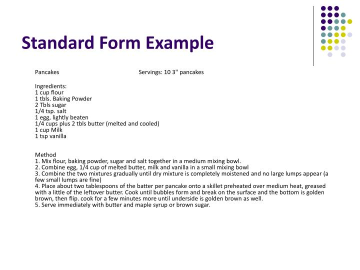 standard recipe template word free editable for