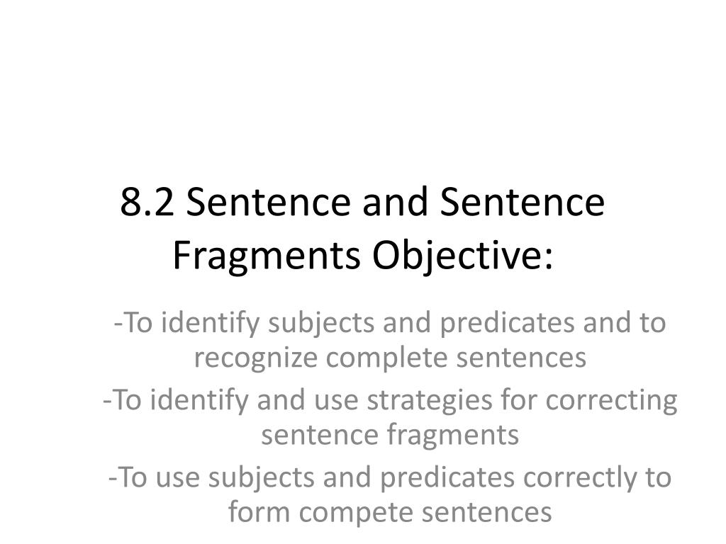 hight resolution of sentence fragments - Cprc