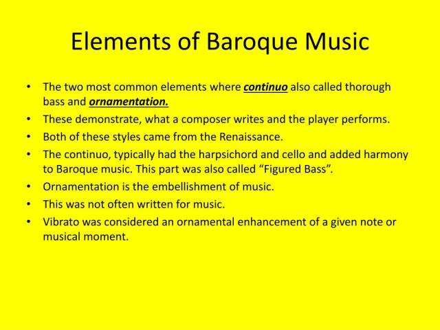 PPT - The Elements of Baroque Music PowerPoint Presentation, free