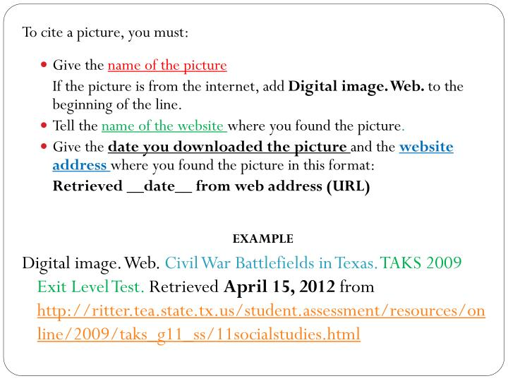 PPT - How to Give Credit for Images that you use in your projects PowerPoint Presentation - ID:2836688