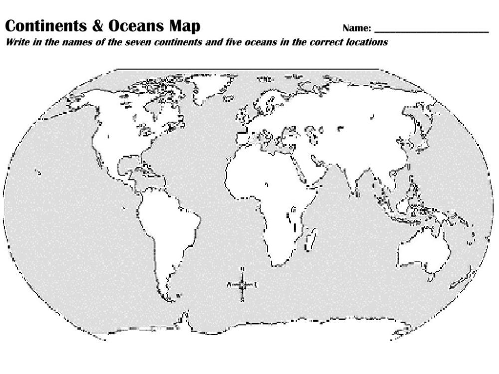 medium resolution of 32 Label The Continents And Oceans Worksheet - Labels Database 2020