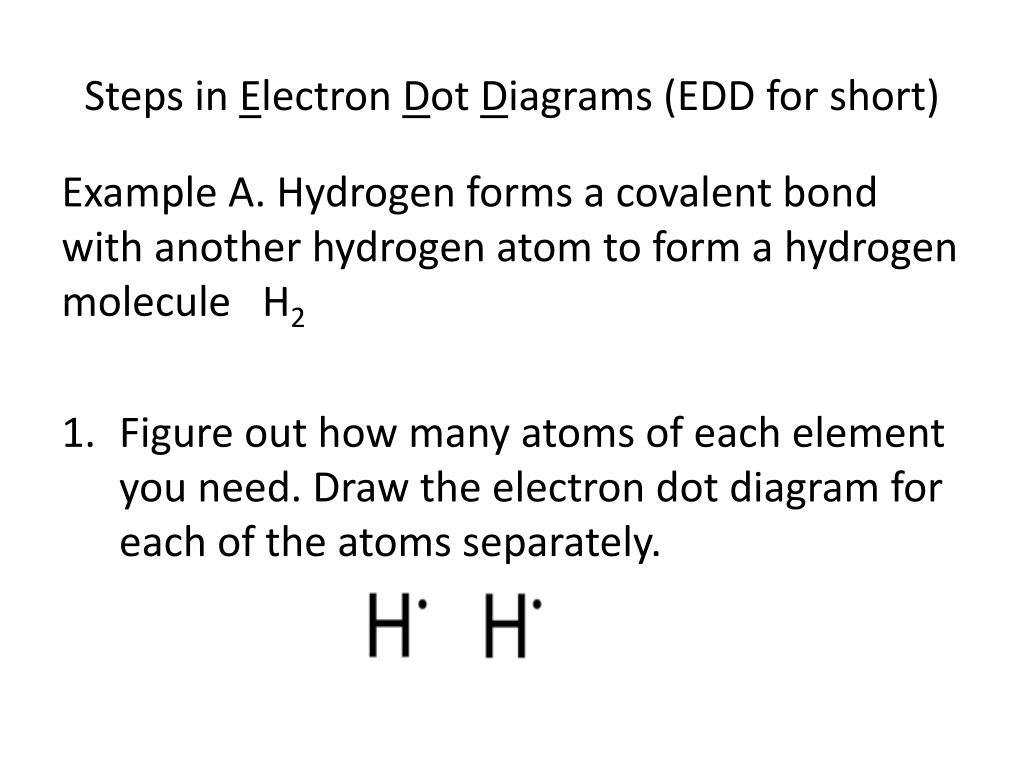 hight resolution of steps in electron dot diagrams edd for short example a hydrogen