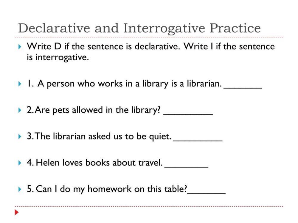 medium resolution of Declarative And Interrogative Sentences Worksheet 4th Grade   Printable  Worksheets and Activities for Teachers