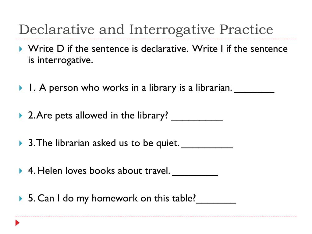 hight resolution of PPT - Declarative and Interrogative Sentences PowerPoint Presentation