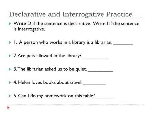 small resolution of PPT - Declarative and Interrogative Sentences PowerPoint Presentation