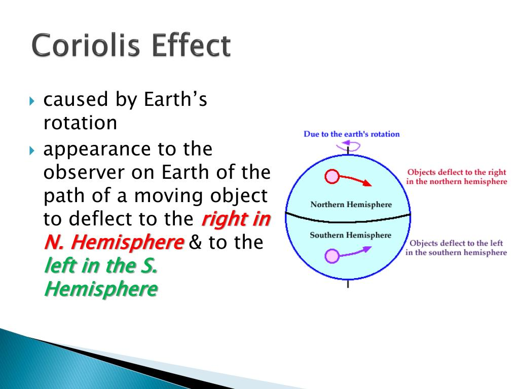 hight resolution of coriolis effect