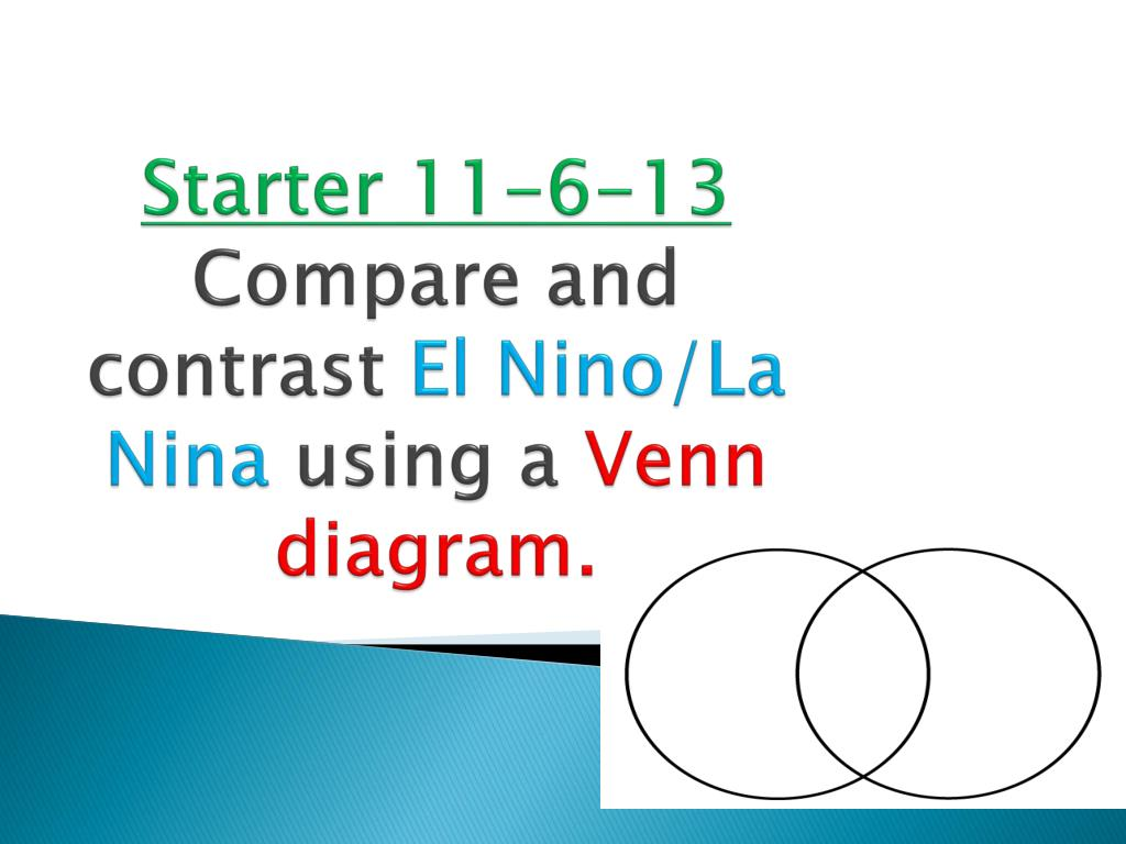 hight resolution of starter 11 6 13 compare and contrast el nino la n ina using a v enn diagram