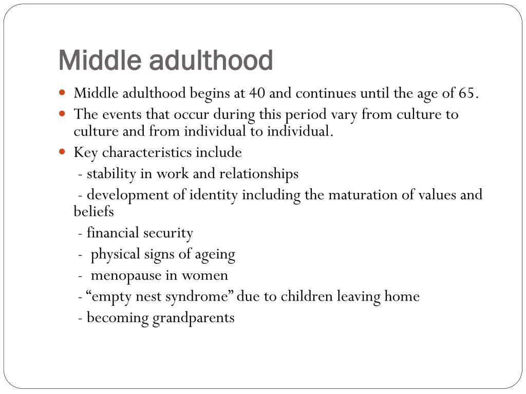 PPT - Overview of the Human Lifespan PowerPoint ...