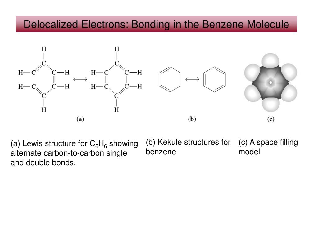 hight resolution of  kekule structures for benzene c a space filling model a lewis structure for c6h6 showing alternate carbon to carbon single and double bonds