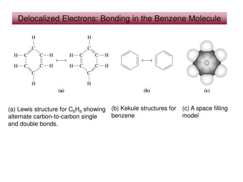 small resolution of  kekule structures for benzene c a space filling model a lewis structure for c6h6 showing alternate carbon to carbon single and double bonds