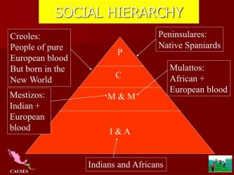latin american social independence hierarchy america ppt powerpoint presentation