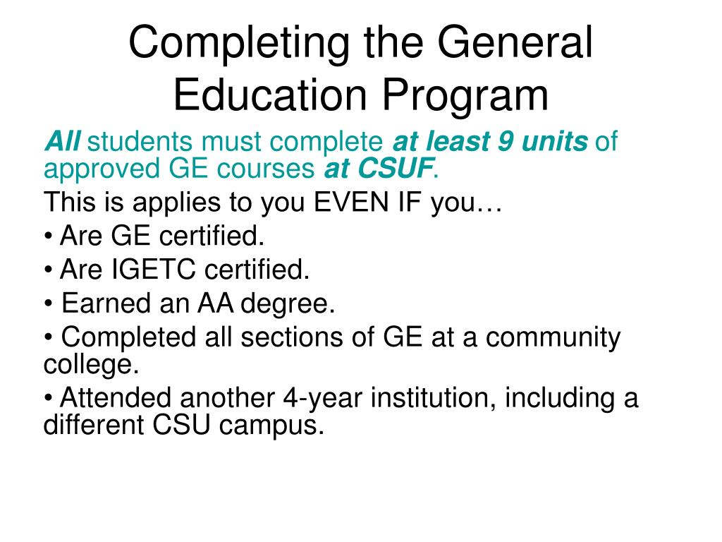 hight resolution of PPT - General Education Advisement for Transfer Students New Student  Orientation PowerPoint Presentation - ID:3041185