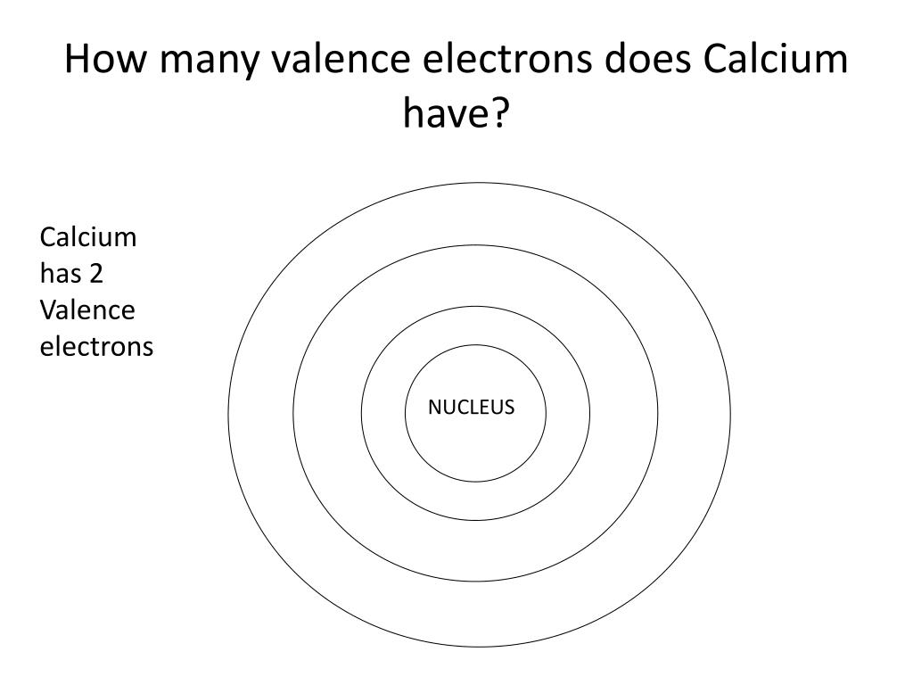 hight resolution of how many valence electrons does calcium have