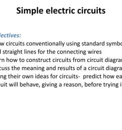 simple electric circuits powerpoint ppt presentation [ 1024 x 768 Pixel ]