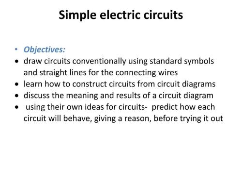 small resolution of simple electric circuits powerpoint ppt presentation